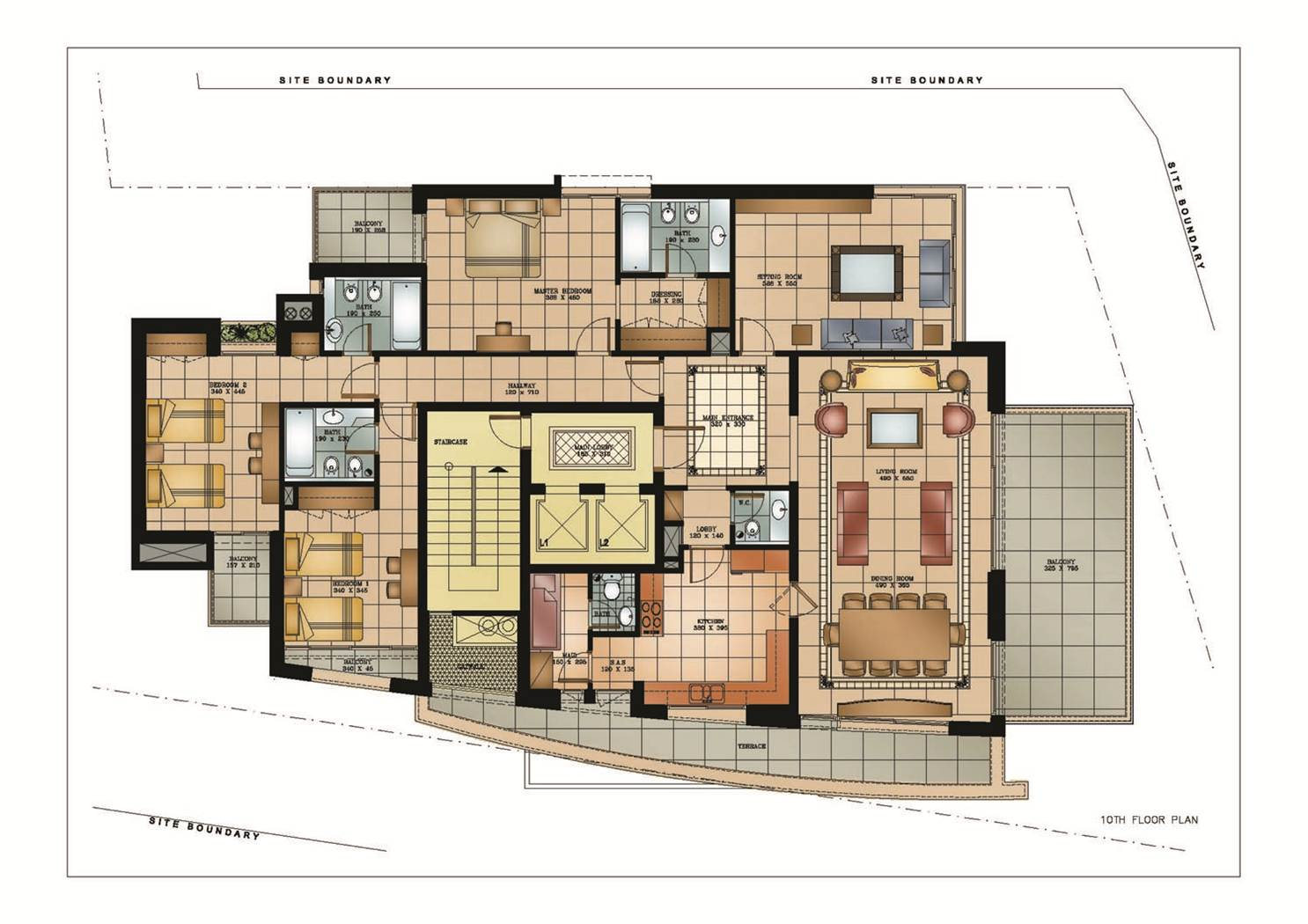 High rise residential floor plan google search apartment for Residential home styles